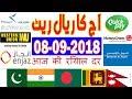Today Saudi Riyal Currency Exchange Rates - 08-09-2018 | Tahweel al Rajhi | Enjaz | Fawri | NCB
