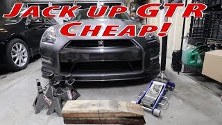 Cheapest method to put a GTR on jackstands