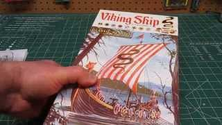 Atlantis Models 1/64 Viking Ship Model Kit Open Box Review