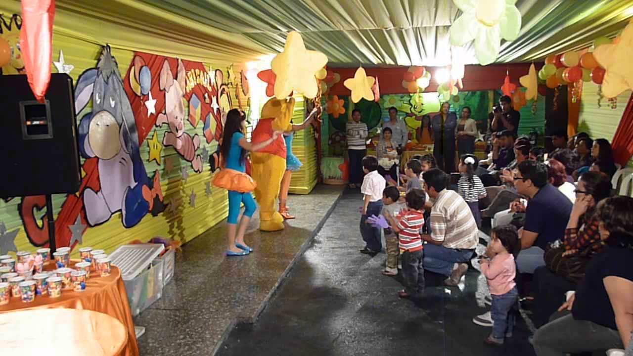 Winnie pooh fiesta infantil local la campana youtube for Local fiestas infantiles barcelona