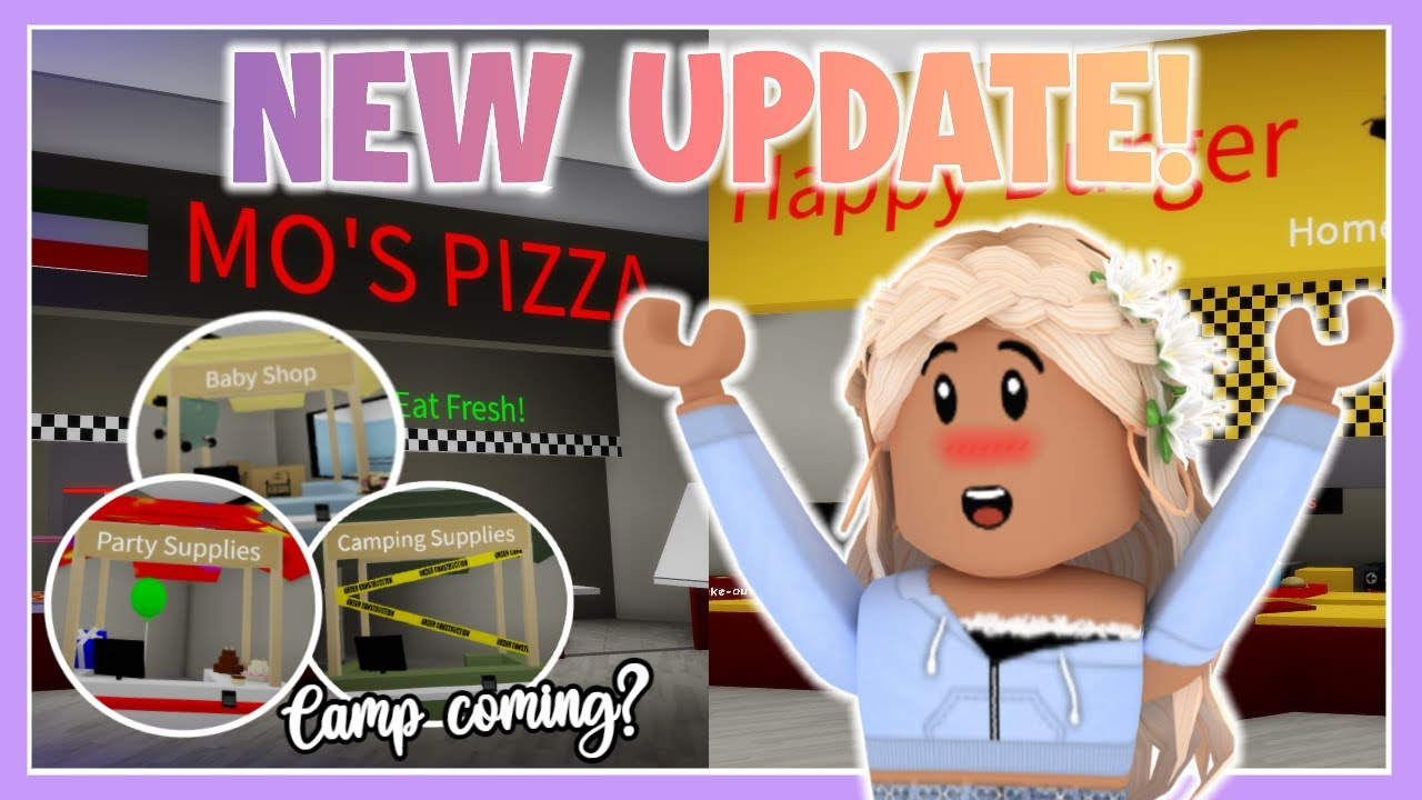 NEW BROOKHAVEN UPDATE Camp coming? New places to eat? Roblox