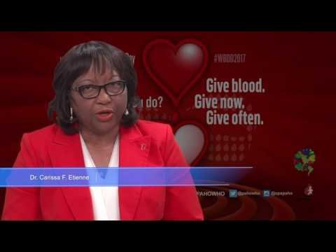 Dr. Carissa F. Etienne—Give blood. Give now. Give often