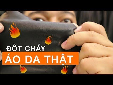 Áo da thật đốt có cháy không? Test áo da thật – FTT LEATHER