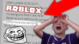 JAILBREAK WANTS MEHR CAMPING COPS?! *RAGE* (Roblox Jailbreak)
