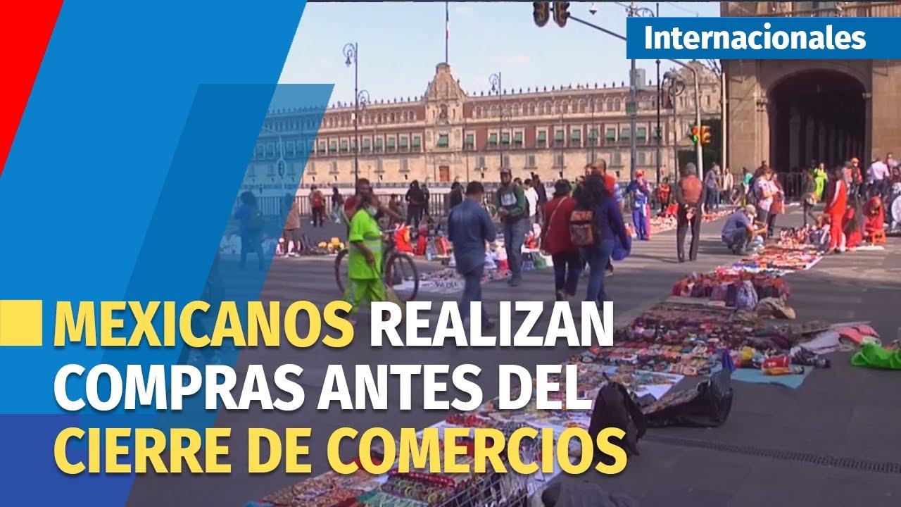 Mexicanos ultiman compras navideñas antes del cierre de comercios en la  capital - YouTube