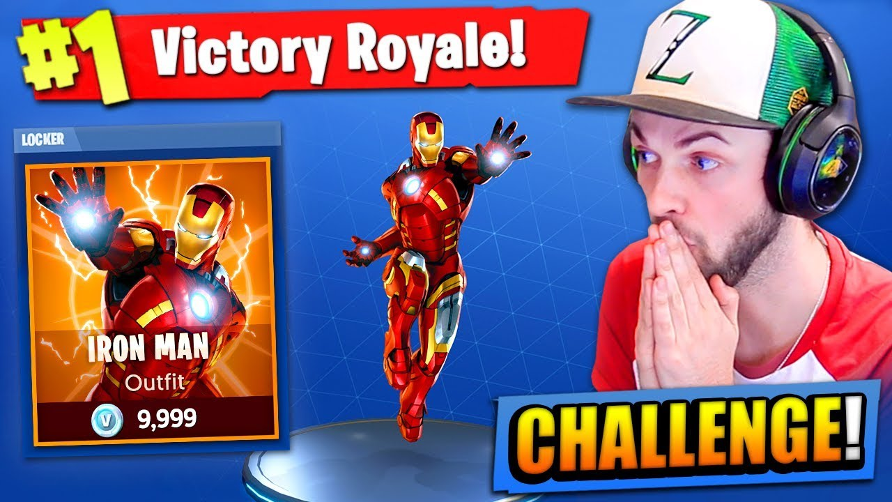 The Iron Man Challenge In Fortnite Battle Royale Youtube