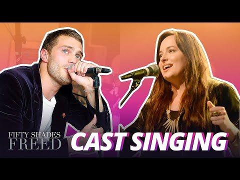 Jamie Dornan & Dakota Johnson Singing (Real Voice)