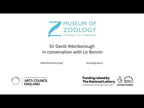 The opening of the Zoology Museum in Cambridge a live Q and A with Sir David Attenborough