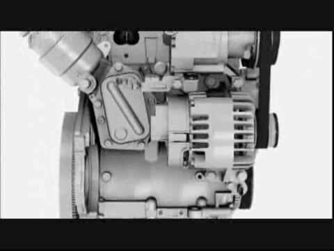 ► Two-cylinder engine of the Fiat 500 TwinAir 85 HP