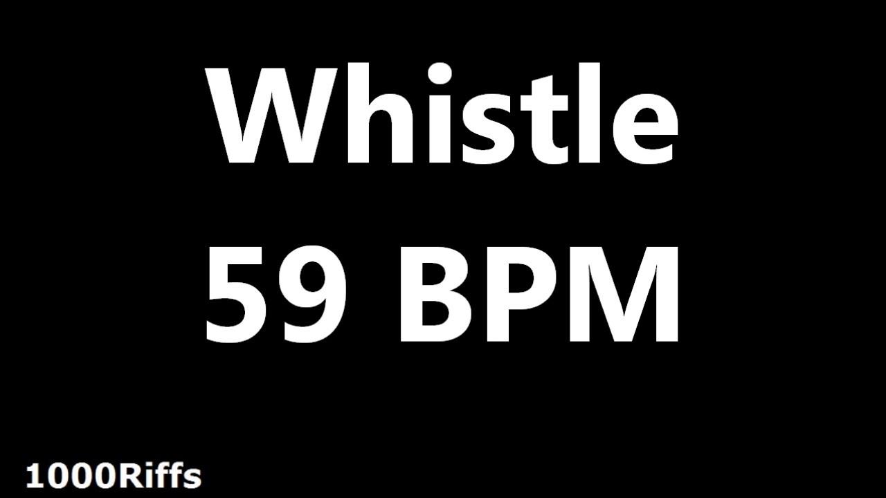 Whistle Metronome : 59 BPM ✓ - YouTube