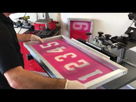Screen printing numbering system - Athleticscreen N-series