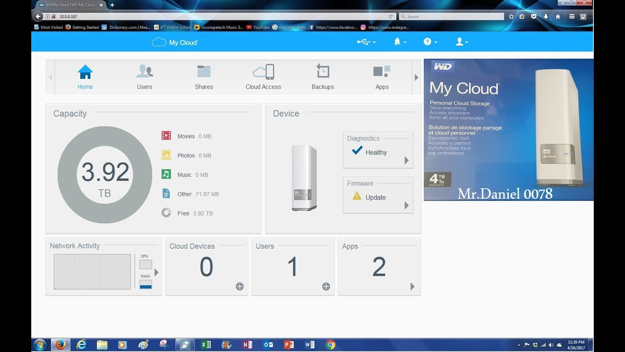 WD My Cloud | How to log into the interface