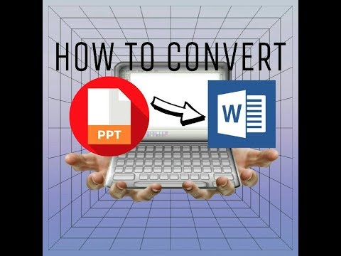 Cara Cepat Merubah File Power Point (pptx) Ke Word (docx) - How To Convert PPT Slide To Word