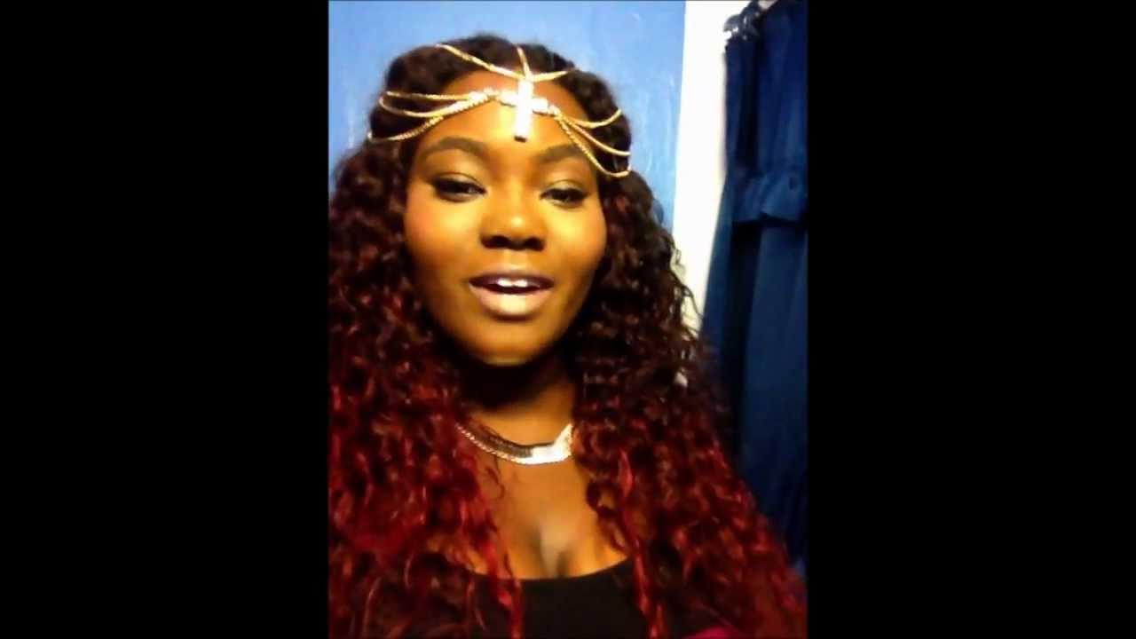 How I Got My Aliexpress Curly Hair Burgandy YouTube