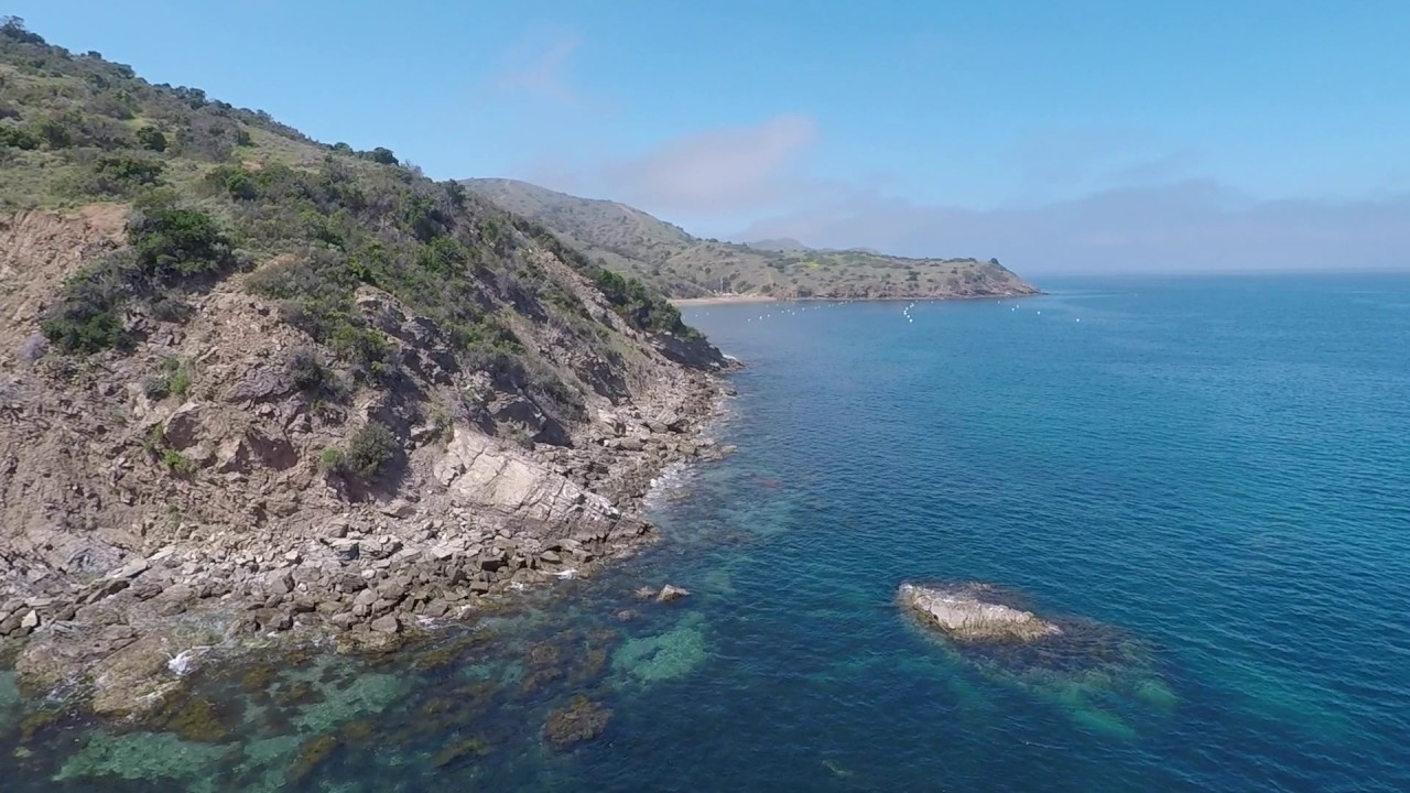 Two harbors to emerald bay catalina island flyby youtube for Catalina bay