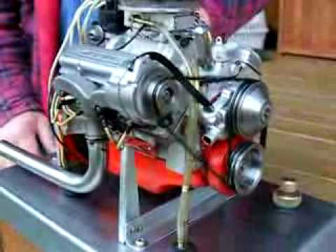 World's smallest Chevrolet 327 V8 engine