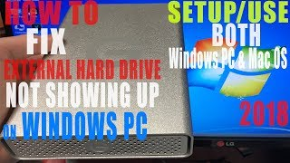 Portable USB External Hard Drive Not Detected Windows FIX Use On BOTH Mac OS & Windows Format HDD