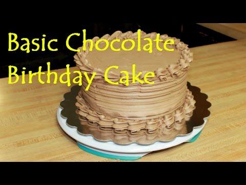 Simple Chocolate Birthday Cake Frosting Tutorial YouTube