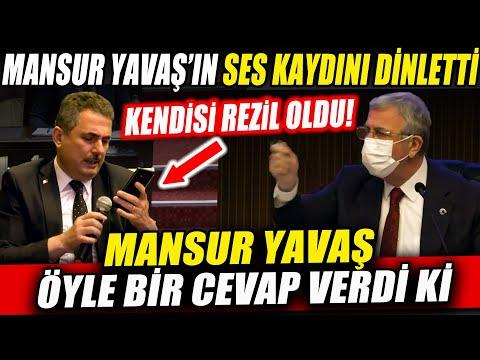 Mansur Yavaş'ın Ses kaydını Dinleten AKP'li Başkan Böyle Rezil Oldu!