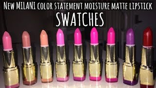 MILANI COLOR STATEMENT MOISTURE MATTE LIPSTICK SWATCHES, A LITTLE CHAT & SOMETHING FOR YOU!