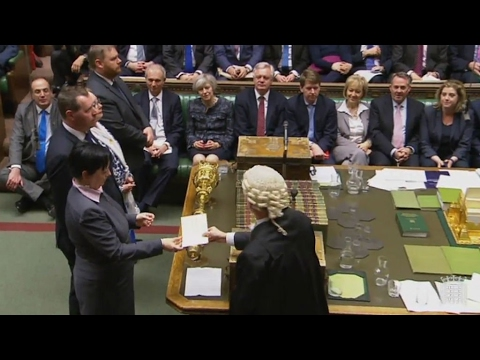 UK - Lower house of parliament gives PM May power to trigger Brexit