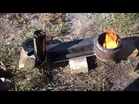 Испарительная горелка на отработке ,перевод печи на отработку.