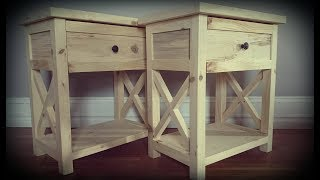This is the build of a pair of bedside / night stand tables.