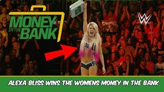 ALEXA BLISS WINS THE WOMENS MONEY IN THE BANK MATCH 2018 (WWE MONEY IN THE BANK RESULTS 2018)