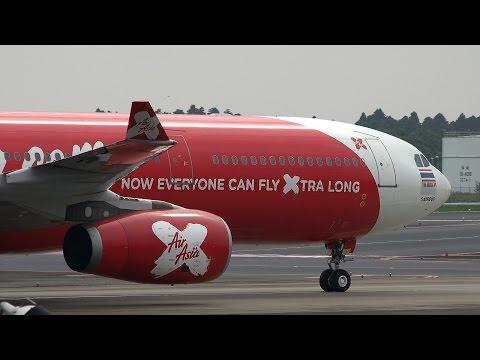 Thai AirAsia X Airbus A330-300 HS-XTA Landing and Takeoff [NRT/RJAA]