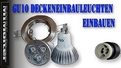 GU10 Deckeneinbauleuchten / Einbaustrahler / Deckenspots einbauen von M1Molter