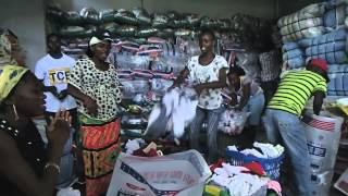 1 of 3   distribution of used clothing to 16 600 families in Angola