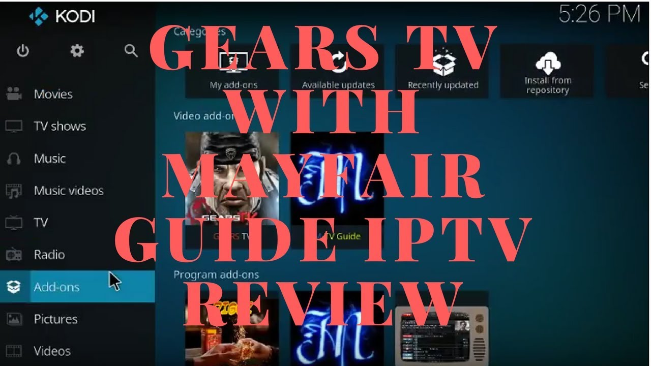 Gears TV Paid IPTV Service with MAYFAIR GUIDE Review ($15 dollars a month)