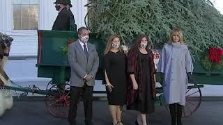 Melania Trump receives 2020 White House Christmas tree   ABC News