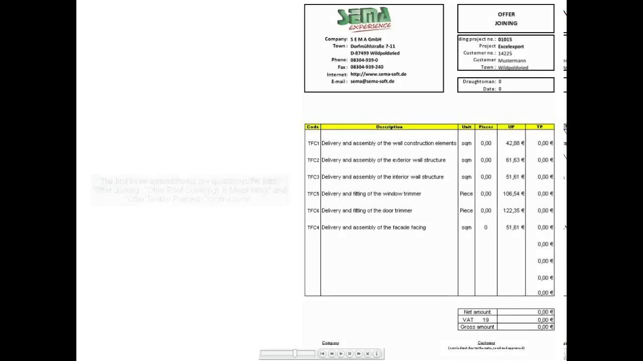 Excel templates for quotations and bill of quantities calculations excel templates for quotations and bill of quantities calculations v113 altavistaventures Image collections