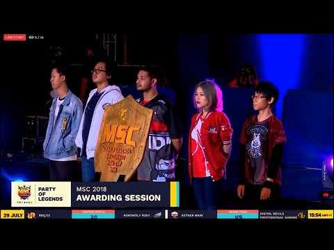 MSC 2018 Awarding Moments Mobile Legends