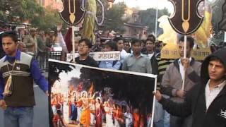 Hare Krishna Movement, Jaipur Shobha Yatra Jan. 2013 (Part-1)