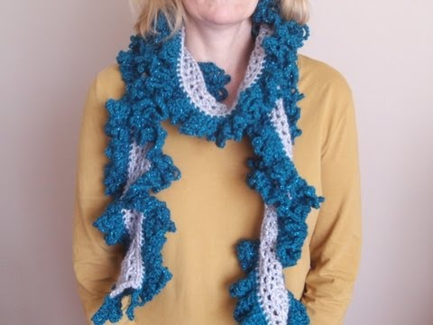 how to make a ruffle scarf on a flower loom