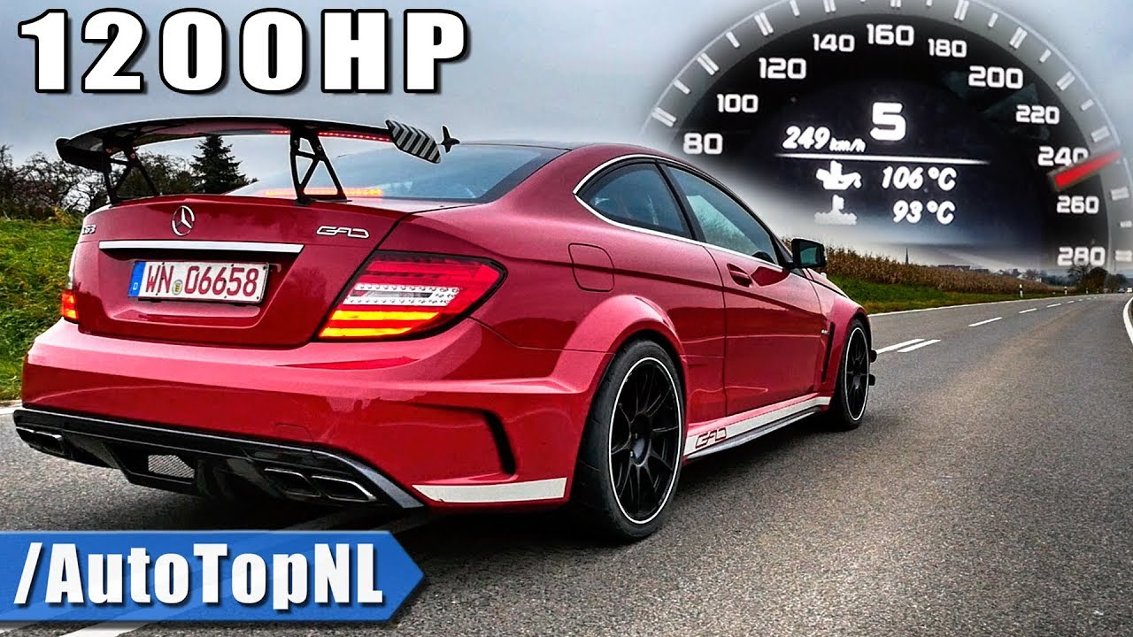 1200hp Mercedes C63 Amg Black Series 0 250km H Acceleration Sound By Autotopnl