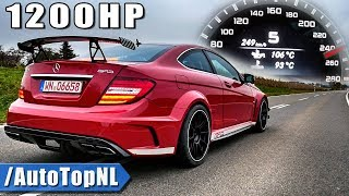1200HP Mercedes C63 AMG BLACK SERIES 0-250km/h ACCELERATION & SOUND by AutoTopNL