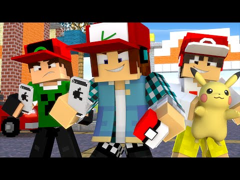Download Youtube: Minecraft: YOUTUBERS JOGANDO POKÉMON GO NO MINECRAFT !! - Casa Dos Youtubers #10