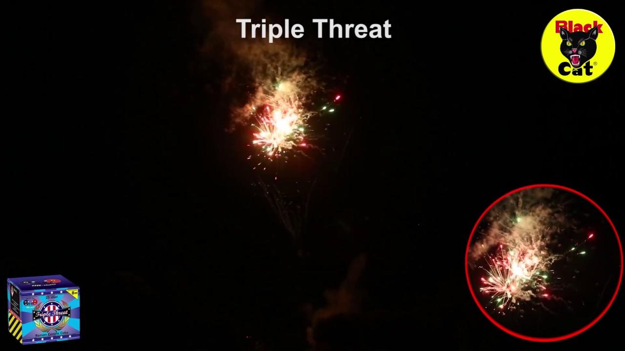 Triple Threat 25 Shot Cake by Black Cat Fireworks