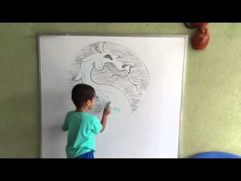 Pintando Dragon Mortal Kombat - YouTube