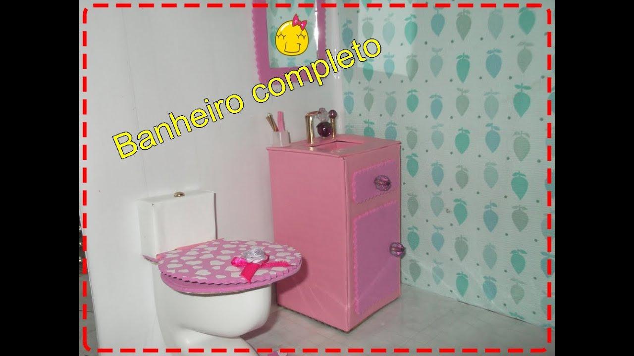 Como fazer pia de banheiro para Barbie e outras bonecas  YouTube -> Como Fazer Pia De Banheiro