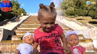 ✔ Кукла Ненуко и девочка Ярослава. Прогулка в Парке у Фонтана. Nenuco Doll. A promenade in the park