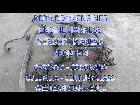 Freightliner Cascadia DD13 DD15 DD16 ENGINE wiring harness problem