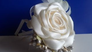 Свадебная Бутоньерка с Розой / Wedding Boutonniere with Rosa