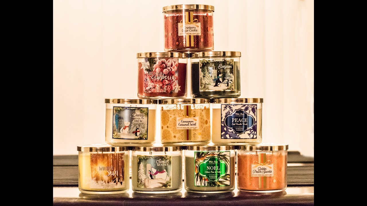 Bath and body works holiday scents - Bath And Body Works Winter 2015 Test Candles Haul
