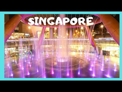 SINGAPORE, the world's biggest FOUNTAIN at SUNTEC CITY SHOPPING MALL