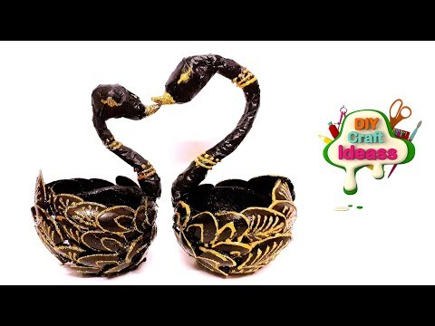 BEST REUSE IDEAS OF COCONUT SHELL | Coconut shell swan DIY idea | | Plastic spoons crafts