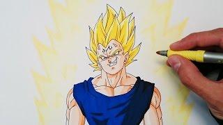 Cómo dibujar a Majin Vegeta explicado paso a paso - How to draw Majin Vegeta
